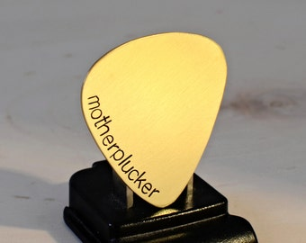 Mother plucker brass guitar pick for just plucking around or playing some serious sound - GP263