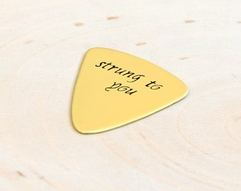 Strung to You Brass Triangular Bass Guitar Pick - GP571