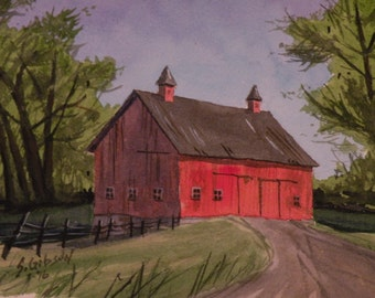 Original Painting, Stan Carley's Barn