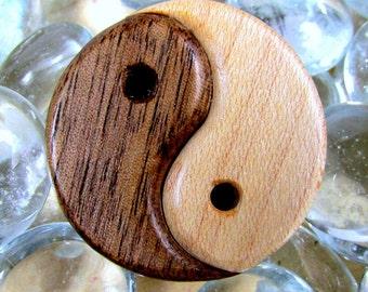 Yin-Yang Pin / Chinese Philosophy / Symbol Walnut and Hard Maple Wood