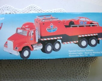 Amoco 1995 Limited Edition Series Toy Race Car Carrier New In Box