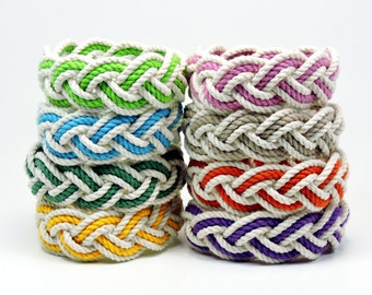 Cotton Rope Beach Bracelet Choose your Color