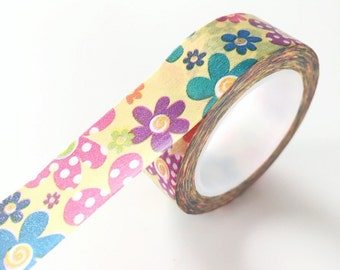 Colorful Daisy Washi Tape Floral Deco Paper Tape