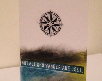 Not All Who Wander Are Lost Card, Wanderlust Card