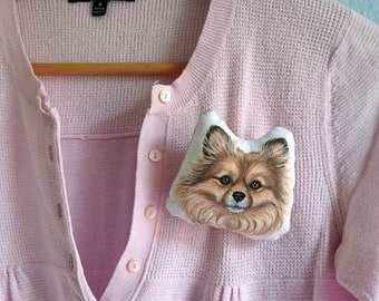 Custom Pet Brooch, Personalized  gift for pet lovers, cat brooch, dog brooch, pet brooch, Christmas Gift