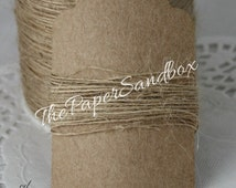 Natural Burlap Twine, Weddings, Gift Wrap, Bakery Twine, Scrapbooking, Weddings, Invitations, Party Supplies, Party Favors