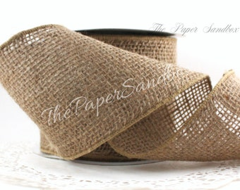 """Wired Burlap Ribbon, Wide Burlap Ribbon, 4"""" wide, Wreaths, Rustic Wedding, Crafts, Gift Wrapping, Garland, Craft Supplies, Floral Arranging"""
