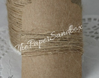 Natural Burlap Twine, 1mm Twine, Weddings, Gift Wrapping, Bakery Twine, Scrapbooking, Weddings, Invitations, Party Supplies, Party Favors