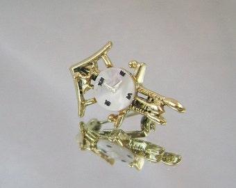 FALL SALE Vintage Brooch Mother of Pearl Cuckoo Clock