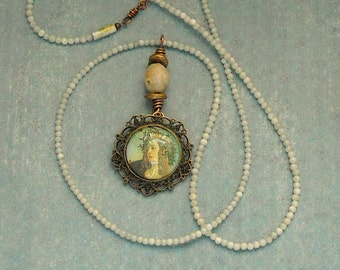 Renaissance Lady Pendant Necklace