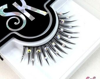 CLEARANCE AB Crystal Rhinestone False Eyelashes - SugarKitty Couture