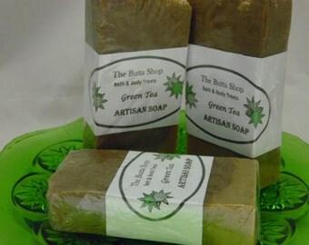 Hot Processed Green Tea Soap