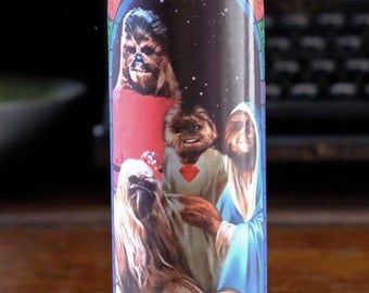 Star Wars Christmas Special Chewbacca Prayer Candle / Happy Life Day!