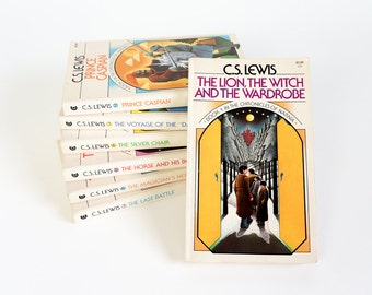 Vintage 1970s Books for All Ages / The Chronicles of Narnia by C.S. Lewis 1970 Complete 7 Volume Paperback Set / Science Fiction, Fantasy