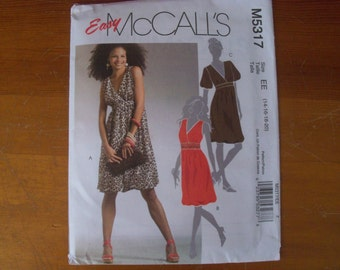McCall's 5317 Misses Pullover Dress Sizes 14 16 18 20 NEW uncut Sewing Pattern
