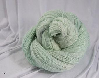 Merino Silk Lace Yarn, Gossamer, Daiquiri Ice, Hand Dyed