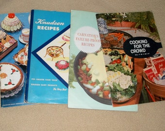Vintage Carnation & Knudsen Recipe Cookbooks • lot of 4