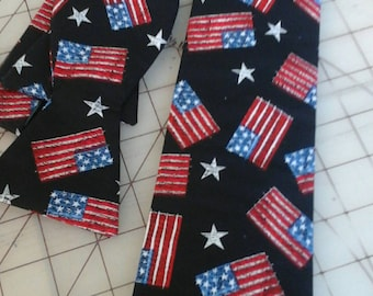 USA Flag Neckties in bow tie, skinny tie and standard tie styles