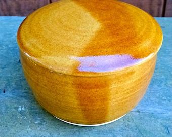 French Butter Crock, French Butter Dish, Butter Dish, Butter Crock, Pottery Butter Dish,Ready to Ship