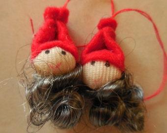 Ten Gnome Santa Swedish Ornaments