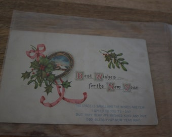 1900's Antique Holiday/ New Year Postcard