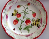 Nathalie Lete butterfly and strawberry dinner plate