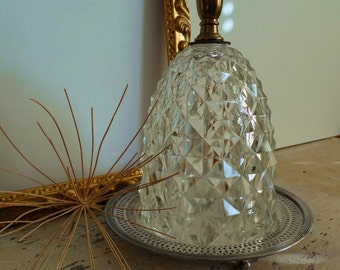 Cloche Dome Home Decor Accent . Salvaged Parts . Faceted Dome with Silver on Copper Base