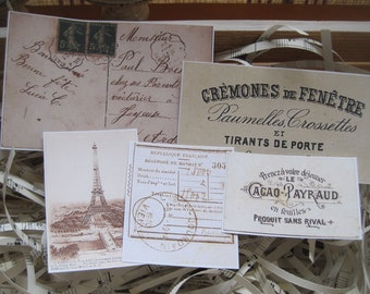 assorted french market vintage labels peel and stick NEW