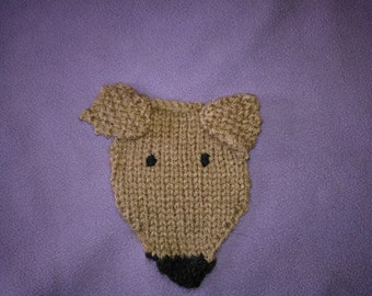 Greyhound Badge and Purse Knitting Pattern Free UK postage