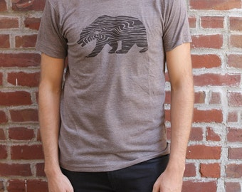 California Bear Wood Grain T-shirt