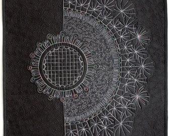 Dandelion art quilt
