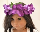 """Flower Crown One of a Kind Hair Accessory by Dollhouse Designs for 18"""" Dolls"""
