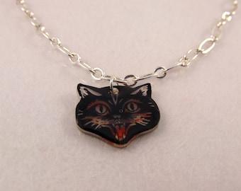 Halloween Black Cat Bracelet Charm