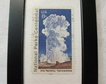 Old Faithful Stamp, Vintage Stamp,  Yellowstone, National Park, postage stamp, Collectible postage stamp