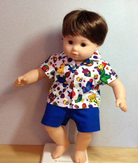 American Girl Doll Clothes 15 inch Bitty Baby boy doll Shorts