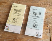 Kawaii Sticky To Do List Post-It / Marker / Memo - Snoopy & Friends at your choice