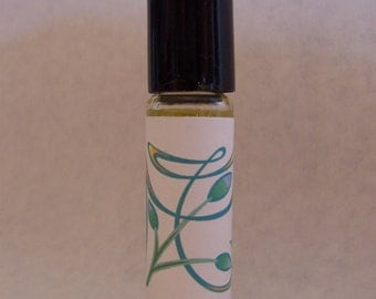 Rosemary & Mint roll on perfume oil, scented oil, roll-on fragrance, alcohol free perfume, travel size, .33 ounces, by Deer Run Soap Works