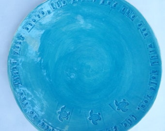 Stamped Loggerhead Sea Turtle Hatching Quote Bowl
