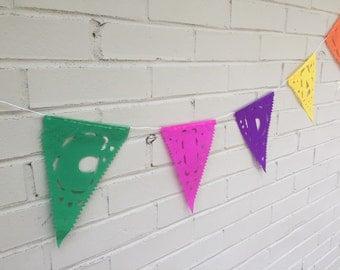 1 Medium All Occasion Felicidades Papel Picado Mexican Banner Garland
