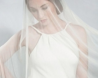 IVORY Silk Tulle Bridal Veil 3 yards x 68 inches