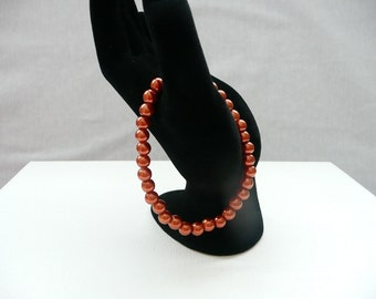 nbs-Bronze Pearl Stretch Bracelet