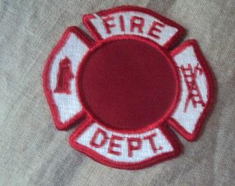 Vintage 60s Fire Department Uniform Sew On Patch