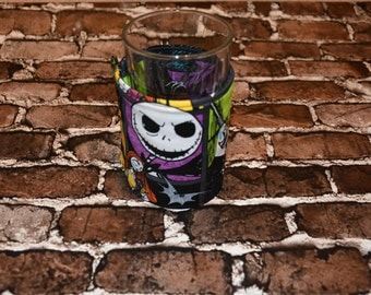Nightmare Before Christmas Glass/Large Can Cozy