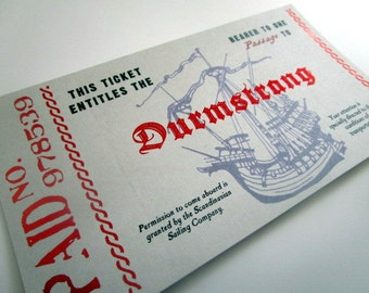 Scandianvian Wizarding School Boat Ticket