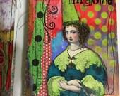 MESSY Art JOURNAL Mixed Media Art, Blank Art Journal, IMAGINE