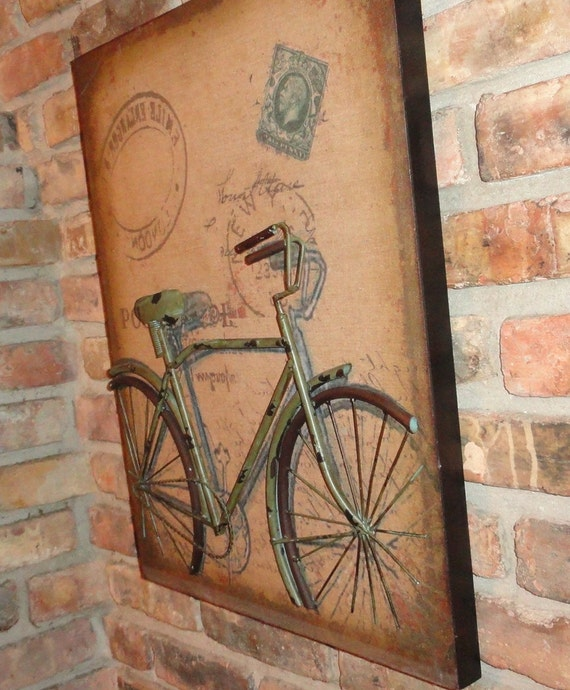 Bicycle Home Decor: Bicycle Wall Art 3D Metal Bike Home Decor Abstract Bicycle