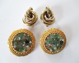 Two Pairs Vintage Clip on Earrings One Pair Givenchy