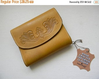 ON SALE vintage. 70s Deadstock ERCU  Brown Wallet