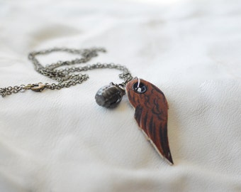Flying Grenade long chachki necklace