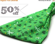 50% off - Green Bandana Sale Headband Shamrock Head Wrap St Paddy's Day Headwrap St Patrick's Headband Sale Headband (#4308) Small Medium